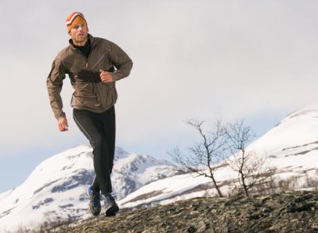Male Runner in Snow
